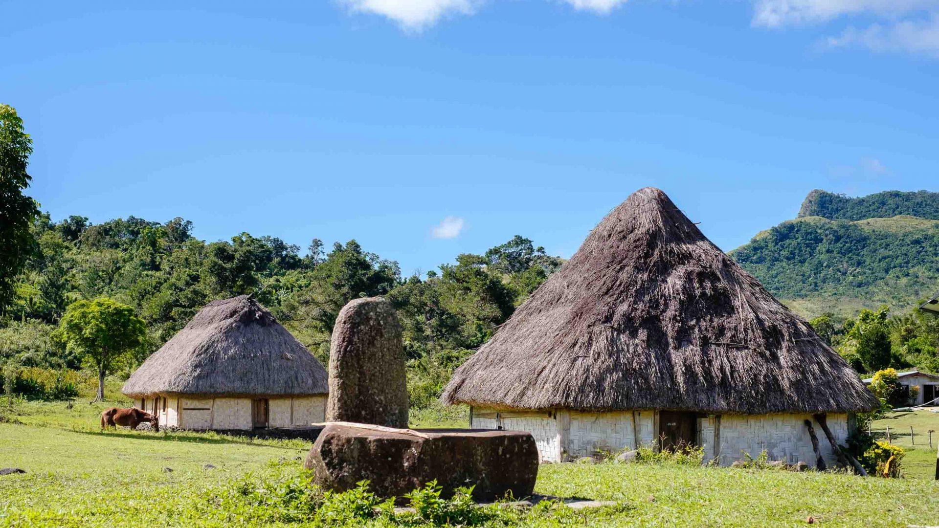 Traditional bures in Nubutautau village