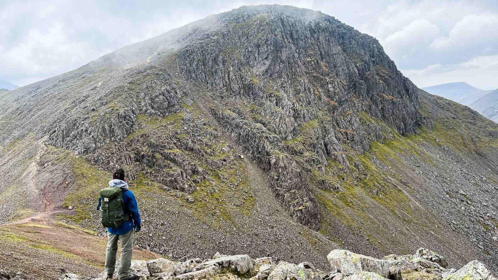 Andy looking at Great Gable