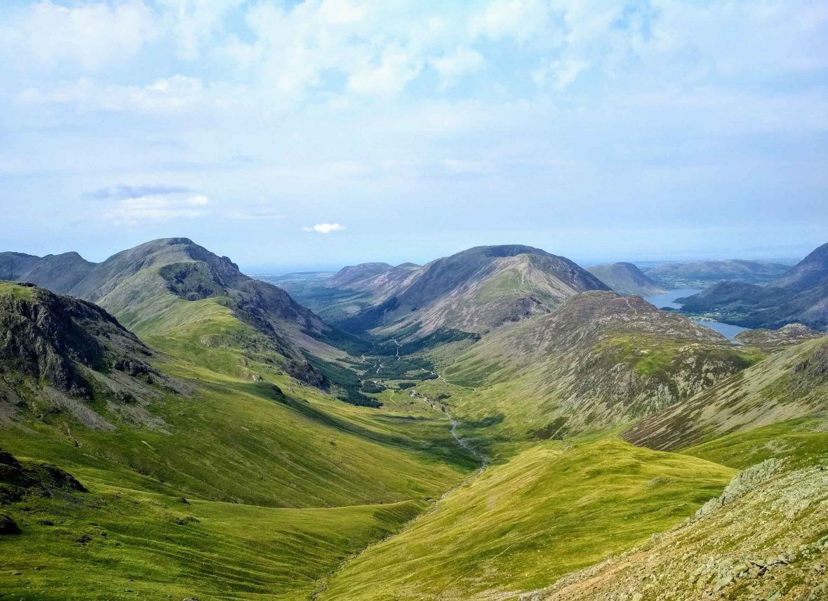 Great Gable, a popular mountain for walkers in the Lake District.