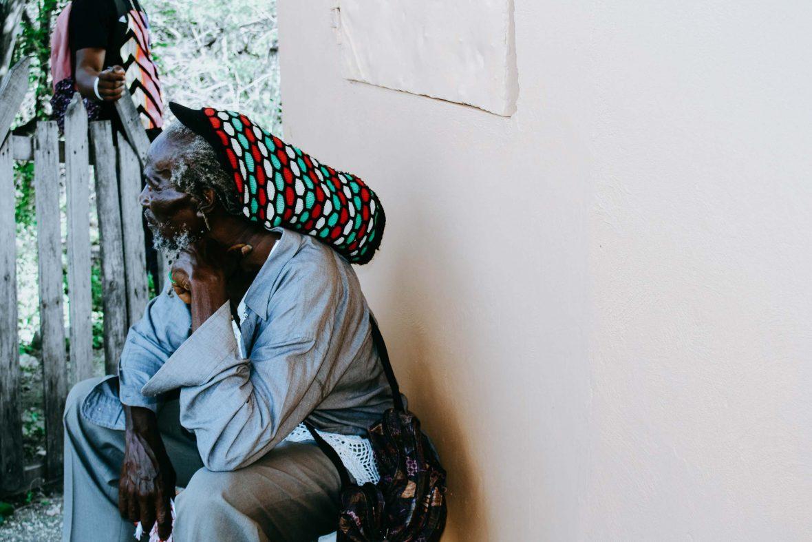 A Rastafari member of the community in Montego Bay.