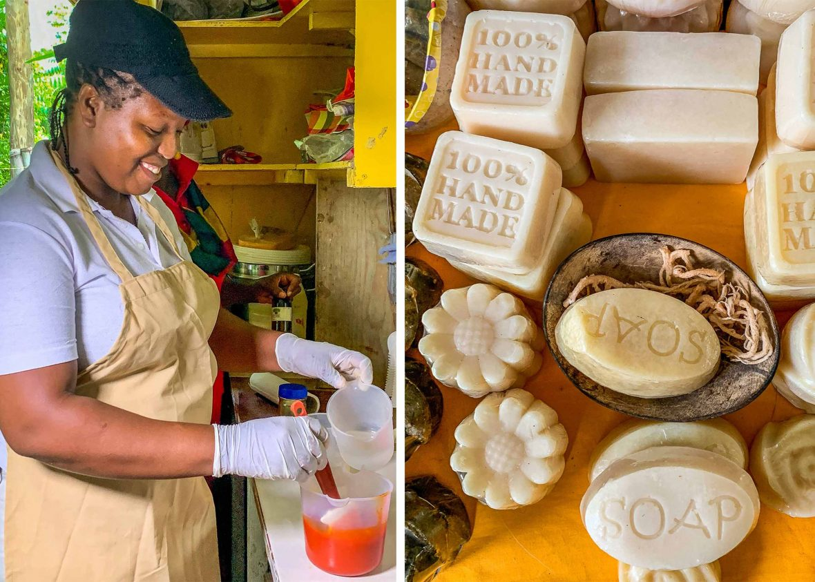 Soap making and soap.