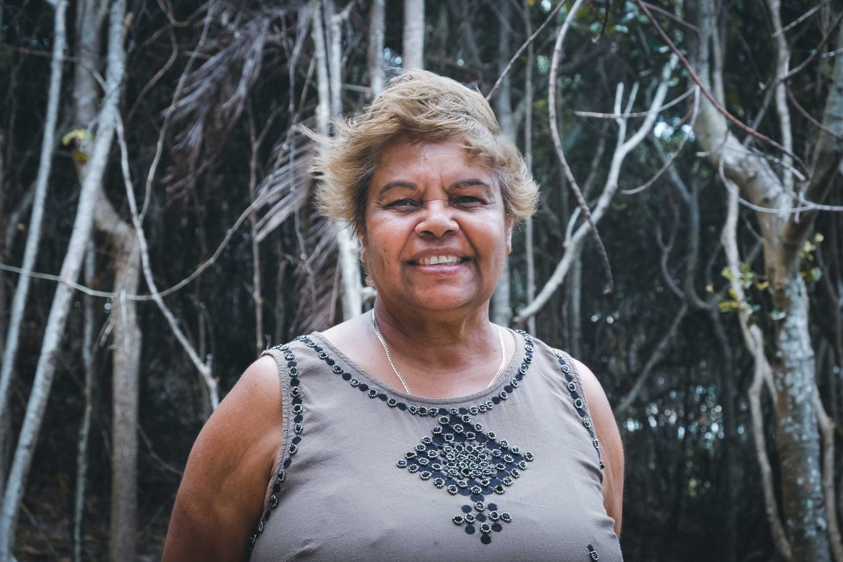 Aunty Lois along the Three Sisters Walking Track, Broken Head Nature Reserve.