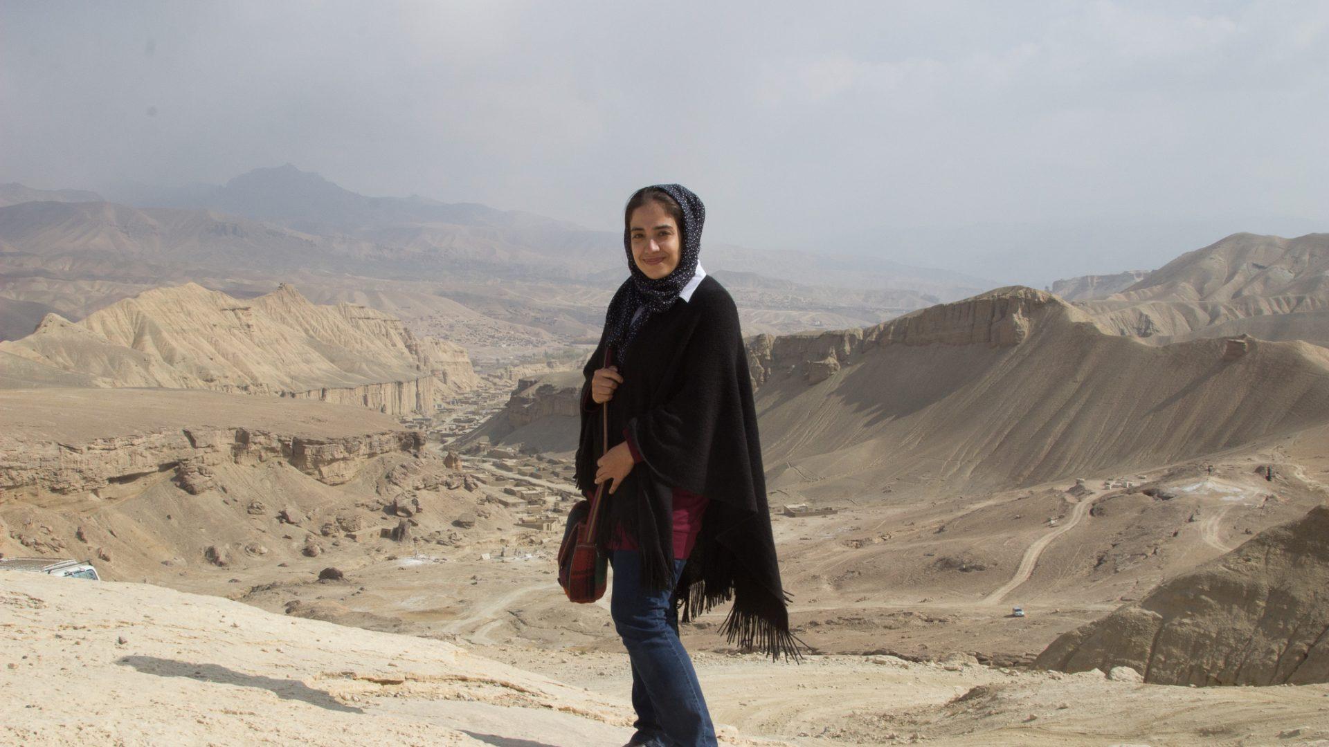Narges at the Bamiyan valley, Bamyan Province.