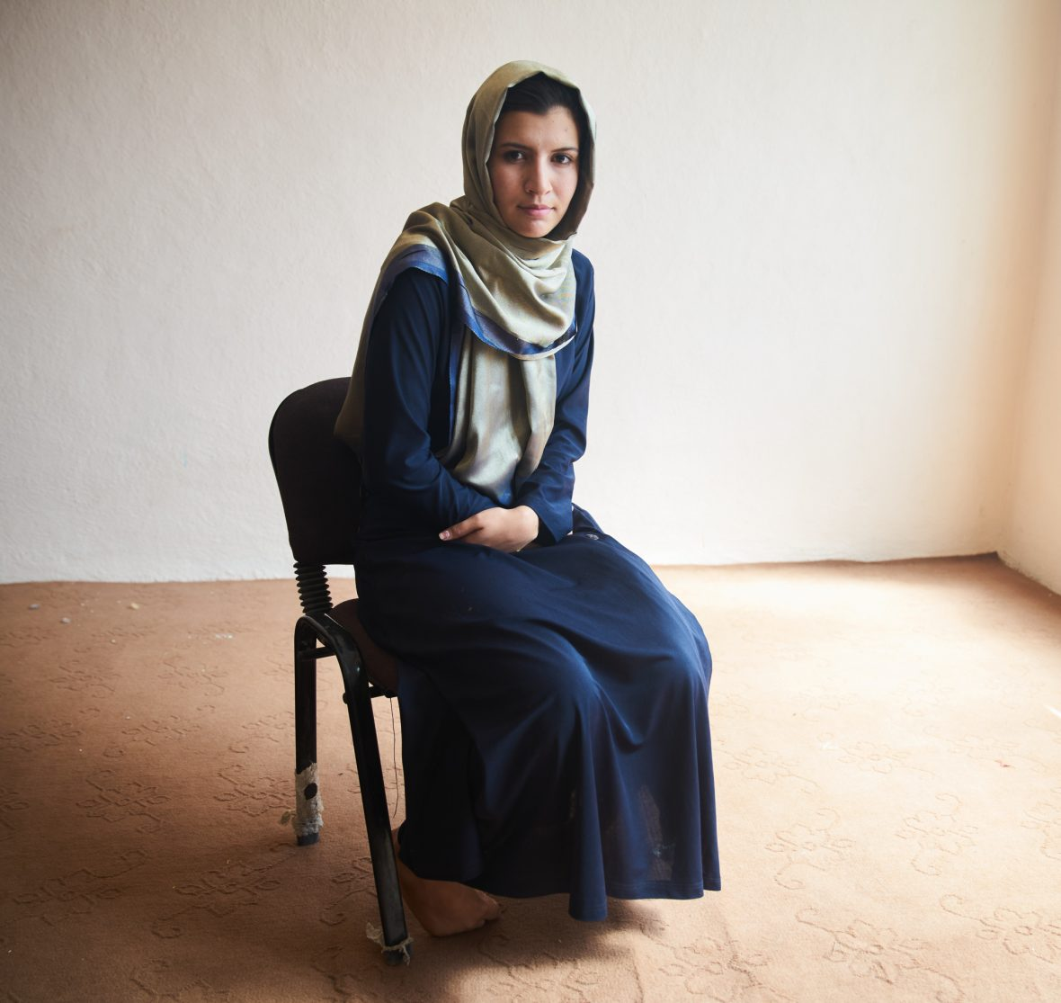A local Afghan woman.